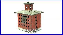 1875 J & E Stevens Cupola Cast Iron Bank. All original