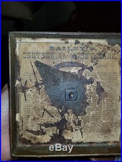 1876 Liberty Bell Centennial Cast Iron Bank with Metal base