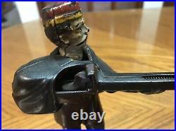 1877 Antique J&E Stevens Creedmore SHOOTER Cast Iron Mechanical Coin BANK Rifle