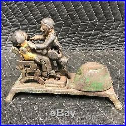 1880'sJ. E. STEVENSORIGINAL CAST IRON BANK TOY withMECHANICAL DENTIST & PATIENT