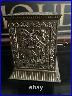 1880s Antique Cast Iron Kyser & Rex Japanese Safe Still Bank