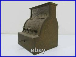 1880s National Cash Register YOUR SAVINGS cast iron toy bank