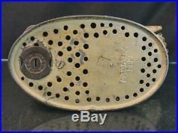 1883 J&e Stevens Cast Iron Original Eagle & Eaglets Mechanical Coin Savings Bank