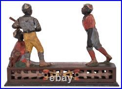 1888 Circa Darktown Battery Cast Iron Mechanical Bank Antique