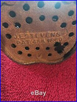 1889 J. E. Stevens Jolly Mammy Cast Iron Mechanical Coin Bank