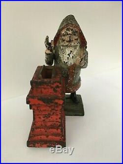 1889 Shepard Hardware Santa Claus Original Cast Iron Mechanical Bank