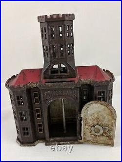 1890-1891 TOWER IRON STILL BANK with DIAL, Made by KYSER & REX of FRANKFORD, PA