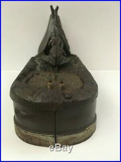 1890s Chief Big Moon J&E Stevens Original Cast Iron Mechanical Bank