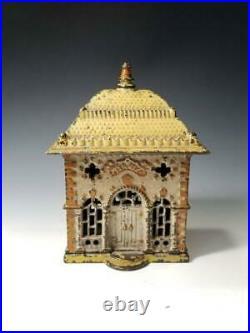 1891 STEVENS Cast Iron HOME STILL BANK-Excellent ORIGINAL PAINT-Beautiful Patina