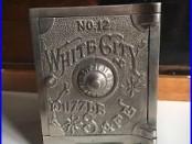1893 WHITE CITY PUZZLE SAFE No. 12 CHICAGO WORLD