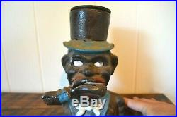 1896 J. E. Stevens Cast Iron Mechanical Coin Bank