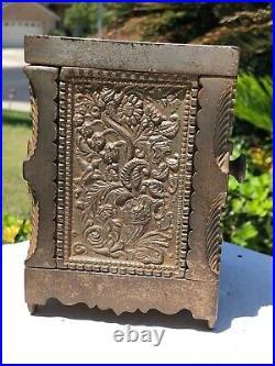 1897 Antique Cast Iron J & E Stevens Co Burglar Proof House Safe Coin Still BanK