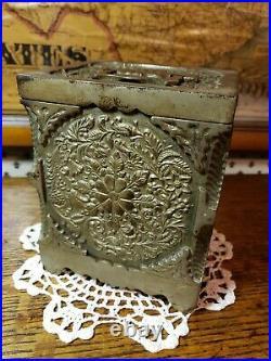 1897 Antique J&E Stevens #40 Key Combination Burglar Proof Bank Safe Cast Iron