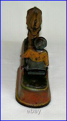 1897 Cast Iron Toy Mechanical Bank Always Did'Spise A Mule Working