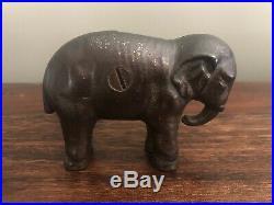 1900 William McKinley Teddy Roosevelt Campaign Elephant Cast Iron Still Bank