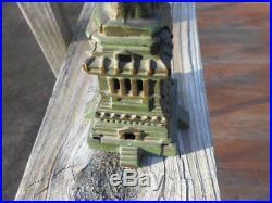 1900's LARGE 9 5/8Kenton Cast Iron Statue of Liberty Still Bank-Multi Piece Cast