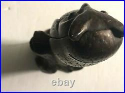 1900's OWL Cast Iron Bank Be Wise Save More A. C. Williams Great Original Paint