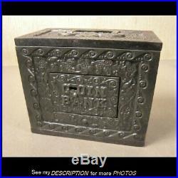 1905 J & E Stevens Cast Iron Still Bank Kodak Box Coin