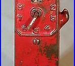 1920s Arcade Cast Iron Still Bank Clock Face Gas Pump