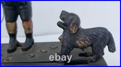 1920s Authentic Antique Hubley Cast Iron Trick Dog, Mechanical Coin Bank