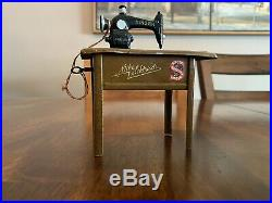 1920s Still Bank German Tin Toy And Cast Iron Singer Sewing Machine