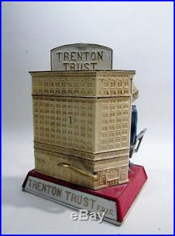 1963 Mary Roebling Trenton Trust Cast Iron Mechanical Bank #131 of 200