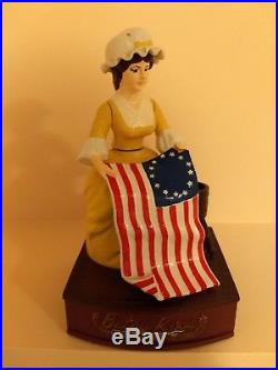 1976 Betsy Ross Cast Iron Mechanical Bank, Limited Edition, #113 of 500