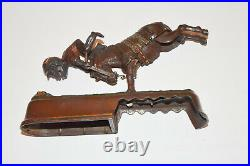 19thc Antique Painted Cast Iron ALWAYS DID SPISE A MULE Mechanical Bank