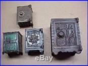 #78 Lot 4 Antique Cast-iron Still Bank Safes