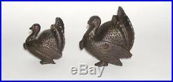 AC Williams Cast Iron Turkey Bank LARGE & SMALL Size Early 1900 (DAKOTApaul)