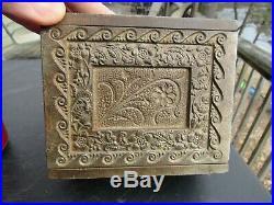 ANTIQUE ORIGINAL c1905 CAST IRON J. & E. STEVENS'' COIN'' BANK