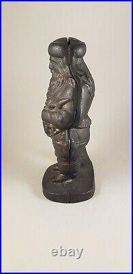 ANTIQUE SANTA CLAUS COIN BANK by IVESCAST IRONBRISTLE TREE7 1/4ca. 1890sUSA