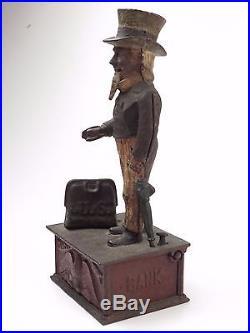 ANTIQUE SHEPARD HARDWARE UNCLE SAM CAST IRON BANK PAT. JUNE 8th 1886 RARE