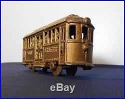 A. C. WILLIAMS CAST IRON MAIN STREET TROLLEY STILL BANK, withPASSANGERS, 1920's