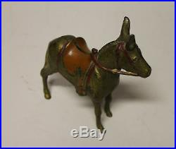 A. C. Willilams Antique Cast Iron Large Donkey or Burro Still Penny Bank