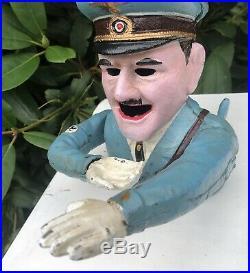 Adolph Hitler World War Two WW2 Style Military Cast Iron Money Box Money Bank