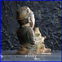 American Cast Iron Mechanical Bank Paddy and the Pig By J&E Stevens