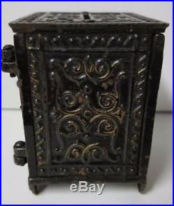 Antique 1881 Cast Iron Kyser & Rex Animal Safe Bank