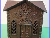 Antique 1882 Keyser & Rex cast iron Church still bank Villa