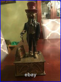 Antique 1886 Shepard Hardware Uncle Sam Cast Iron Mechanical Bank NO RESERVE