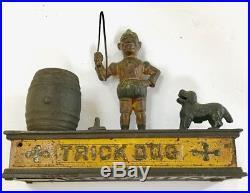 Antique (1888) Mechanical Cast Iron Bank Trick Dog