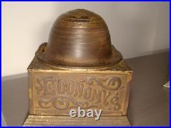 Antique 1892 Cast Iron Beehive Mechanical Bank Economy Accumulates Wealth RARE