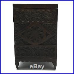 Antique 1897 Cast Iron Still Bank Treasure Safe J & E Stevens Key Combination 45