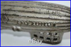 Antique 1920s AC WILLIAMS Cast Iron Orig Graf Zeppelin Still BANK 6.75 (1974)