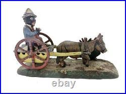 Antique 19thC JE Stevens Americana Cast Iron Mechanical Bank Farmer Bad Accident