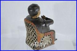 Antique 19th Century Cast Iron Tammany Mechanical Bank 1875