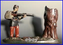 Antique 19thc J & E Stevens Cast Iron Creedmoor 1877 Soldier Mechanical Bank
