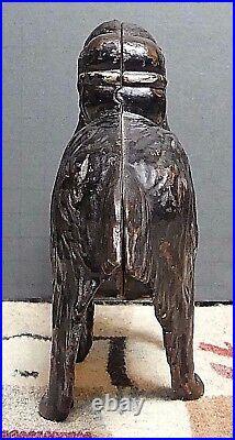Antique AC Williams Cast Iron Newfoundland Still Bank Original Paint LARGE SIZE