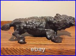 Antique Advertising Cast Iron Buffalo Bank from Amherst Stoves