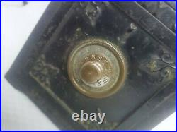 Antique CAST IRON CI SECURITY SAFE DEPOSIT Still Combination Bank 1880's Small